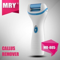 2015 electric callus remover with 2 different color rollers easy to replace/electric foot file