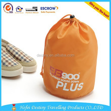 Hot selling round drawstring waterproof multiple shoe bag