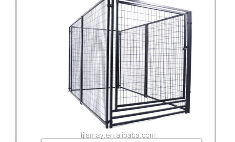 Large outdoor galvanized heavy duty metal wire mesh fencing dog kennel