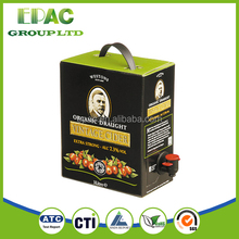 FDA,BPA Free Approval! plastic water bladder bag in box for egg liquid, wine .juice,edible oil.drinking water,metalized