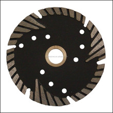 Special shape concrete diamond saw blade with protective teeth for angle grinder
