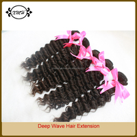 Natural Black Color Deep Wave Hair Extensions for Women