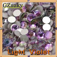 ss20 Light Violet machine cut Non Hotfix round 5mm flatback rhinestones