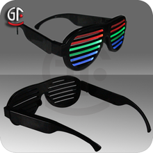 Wholesale Gift Items Led Cheap Factory Price Sound Activated Funky Kids Sunglasses Party