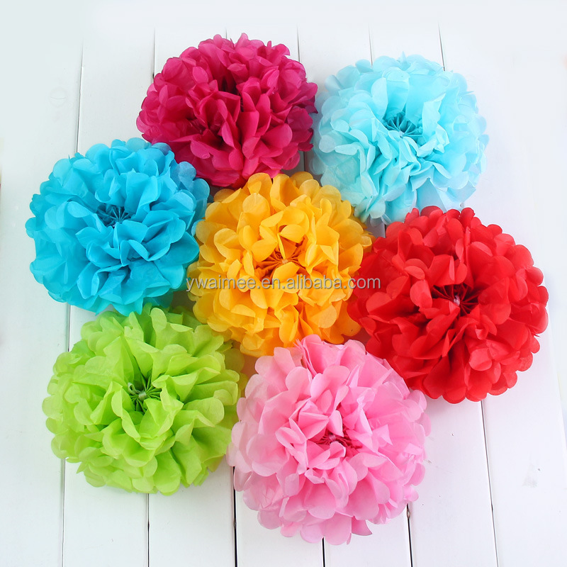 Yiwu aimee supplies wholesale different size tissue paper pom poms 11239358141398297506g mightylinksfo