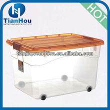 55L plasitc waterproof laundry container with handle and wheels
