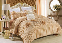 7 piece yellow wedding luxury comforter set