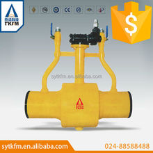 TKFM hot sale city gas station and buliding gas supply use full welding ball valve for natural gas pipeline