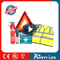Car safety kit, emergency kit, warning triangle