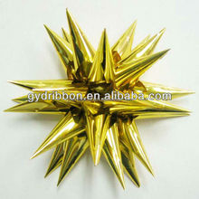 """4.5"""" gold laba ribbon bow with horns for wrapping gifts or decorative christmas"""