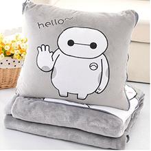 Soft gray big hero 6 Baymax throw pillow & blanket 2 in 1