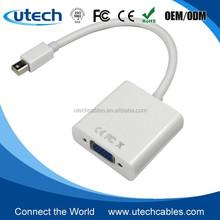 Utech Mini DisplayPort DP Male to VGA Female Active adapter for macbook