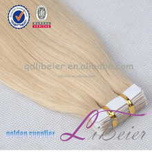 Top quality pu skin weft unprocessed one donor tape hair extension