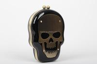 Online Sale Harajuku Style Skull Mask Face Bag Acrylic Hippie Clutch Handbag Shoulder Bag (CREB104)