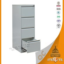 Commercial Furniture 4 Compartment Steel Cabinet / Iron Storage Locker / Metallic Drawer Cabinet
