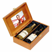 new custom wooden video boxes for wine bottles