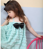 Pinkideal South Korea Girls skirt ribbon straps princess skirt