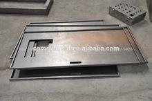 de alta calidad personalizados cnc de punzonado de metal marco de la puerta