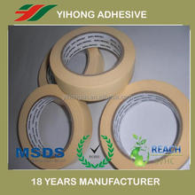 high quality brown masking tape manufacturer for 4S automotive spraying repair