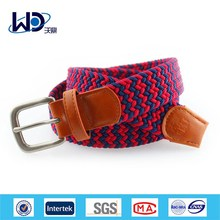 Unisex Woven Elastic Fabric Braided Belts