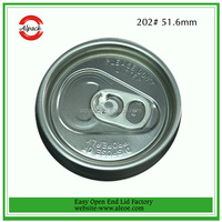 Free sample round aluminum plastic lid for pop can