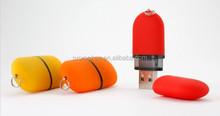Custom logo pill shape 64gb usb flash drive