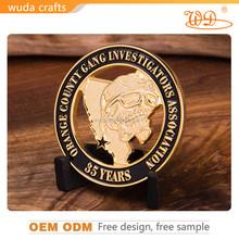 custom soft enamel antique gold souvenir military challenge coin