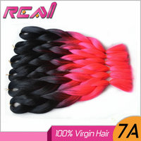 Free Shipping Ombre Two Tone Synthetic Marley Ultra Braid / Xpression Hair For Braid Hair Extensions Kanekalon Jumbo Braid 100G