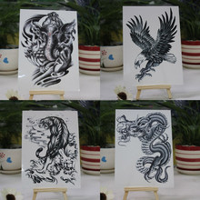 Fake dragon temporary arm tattoo stickers for man