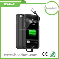 3000mah newest built in cable battery charger case for iphone 6