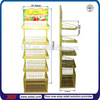 TSD-M912 floor vegetables display stands,retai store cutomized metal shelf, metal supermarket fruit and vegetable display rack