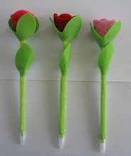 Cheap promotional Valentine rose flower pen