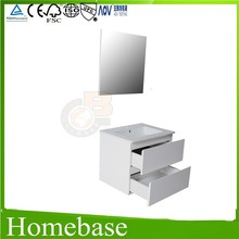 600mm vanity unit with flat mirror of home furniture for European market