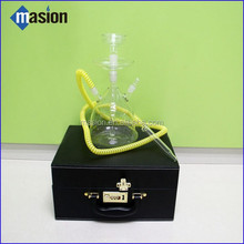 2015 Best-selling colored borosilicate glass hookah with led Glass Water Pipes