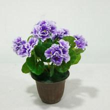 Purple Artificial Begonia Faux Flower Bouquet Wedding Party Decoration