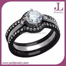 4 PCS Women Ring Set And Men Matching Ring Cubic Zirconia Engagement Wedding Titanium Ring