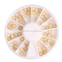 Fashion 3D Nail Art Decoration Half Round Pearl 3mm