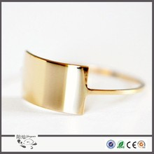 New arrival fahsion beautiful full finger ring gold plated blank wonder women ring