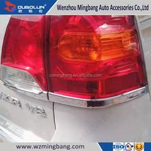 Chrome rear light/rear lamp cover strips, car accessory chrome rearlamp taillight cover for 2012 2013 TOYOTA Land Cruiser FJ200