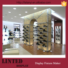 Fancy decoration shoe display showcase