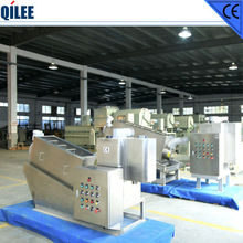 high capacity screw sludge dewatering machine for slaughterhouse wastewater