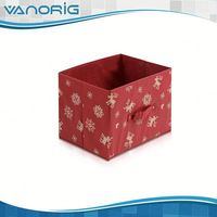 2015 Multifunction Non Woven Foldable pretty cardboard storage box with lids