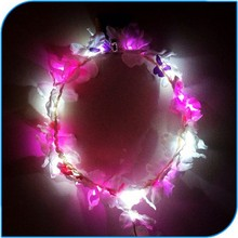 2015 New Products Party Favor Flashing Blinking Colorful Led Light Up Hawaii Leis