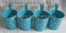 Blue white dot Hanging/Standing Garden Decoration/Crooked handle_Alibaba Golden Supplier