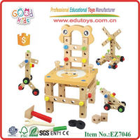 Goodkids 2015 popular DIY changeable wooden nut building toys for children