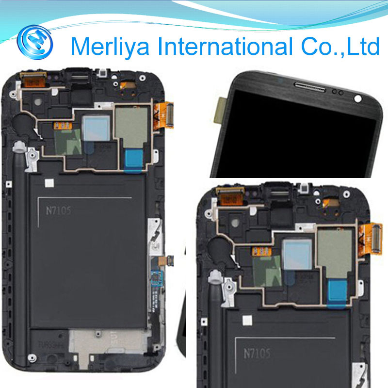 Lcd Screen Digitizer Assembly+frame For Samsung Galaxy ...