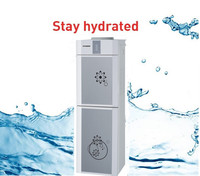 free standing hot and cold water dispenser with refrigerator