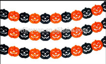 Halloween Pumpkin Design 10FT Party Banner/Garland, Orange & Black