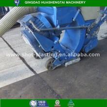 top quality horizontal movable floor shot blasting machine for road tunnel bridge surface dustless coarsen treatment