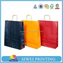 Luxury custom gift paper garment packaging bag for clothing kraft paper bag for clothing